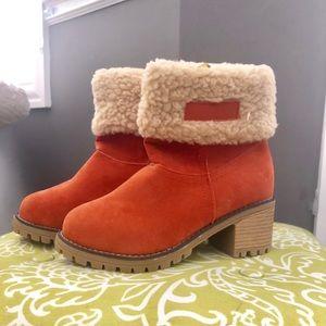 Vibrant Orange Boots